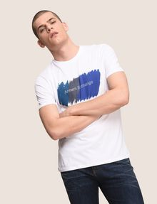 ARMANI EXCHANGE PAINTED OUTLINE LOGO TEE Logo T-shirt Man a