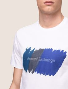 ARMANI EXCHANGE PAINTED OUTLINE LOGO TEE Logo T-shirt Man b
