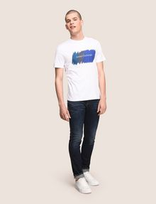 ARMANI EXCHANGE PAINTED OUTLINE LOGO TEE Logo T-shirt Man d