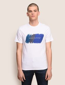 ARMANI EXCHANGE PAINTED OUTLINE LOGO TEE Logo T-shirt Man f