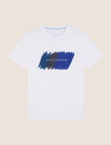 ARMANI EXCHANGE PAINTED OUTLINE LOGO TEE Logo T-shirt Man r