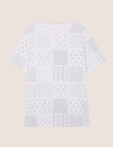 GEOMETRIC MIX CREWNECK TEE