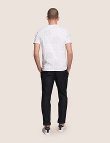 ARMANI EXCHANGE GEOMETRIC MIX CREWNECK TEE Logo T-shirt Man e