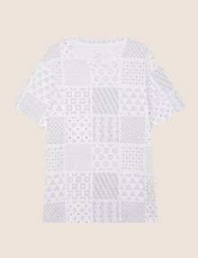 ARMANI EXCHANGE GEOMETRIC MIX CREWNECK TEE Logo T-shirt Man r
