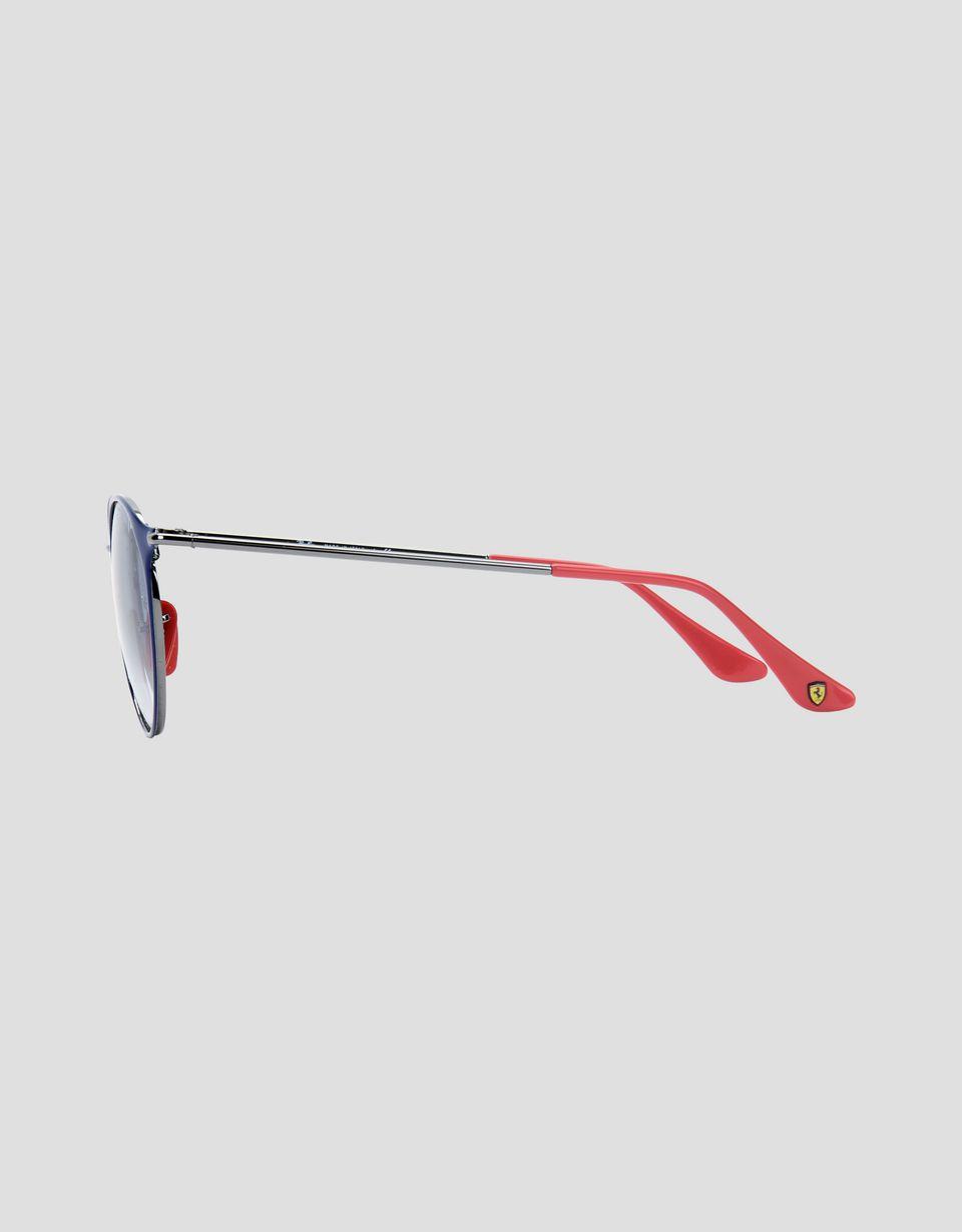 Scuderia Ferrari Online Store - Ray-Ban x Scuderia Ferrari RB3602M blue and gunmetal sunglasses -