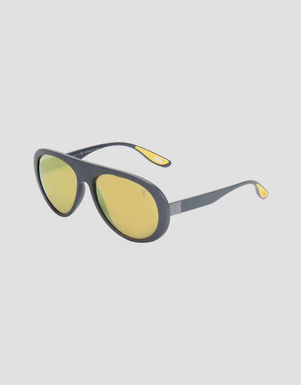 Scuderia Ferrari Online Store - Ray-Ban x Scuderia Ferrari 0RB4310M grey sunglasses - Sunglasses