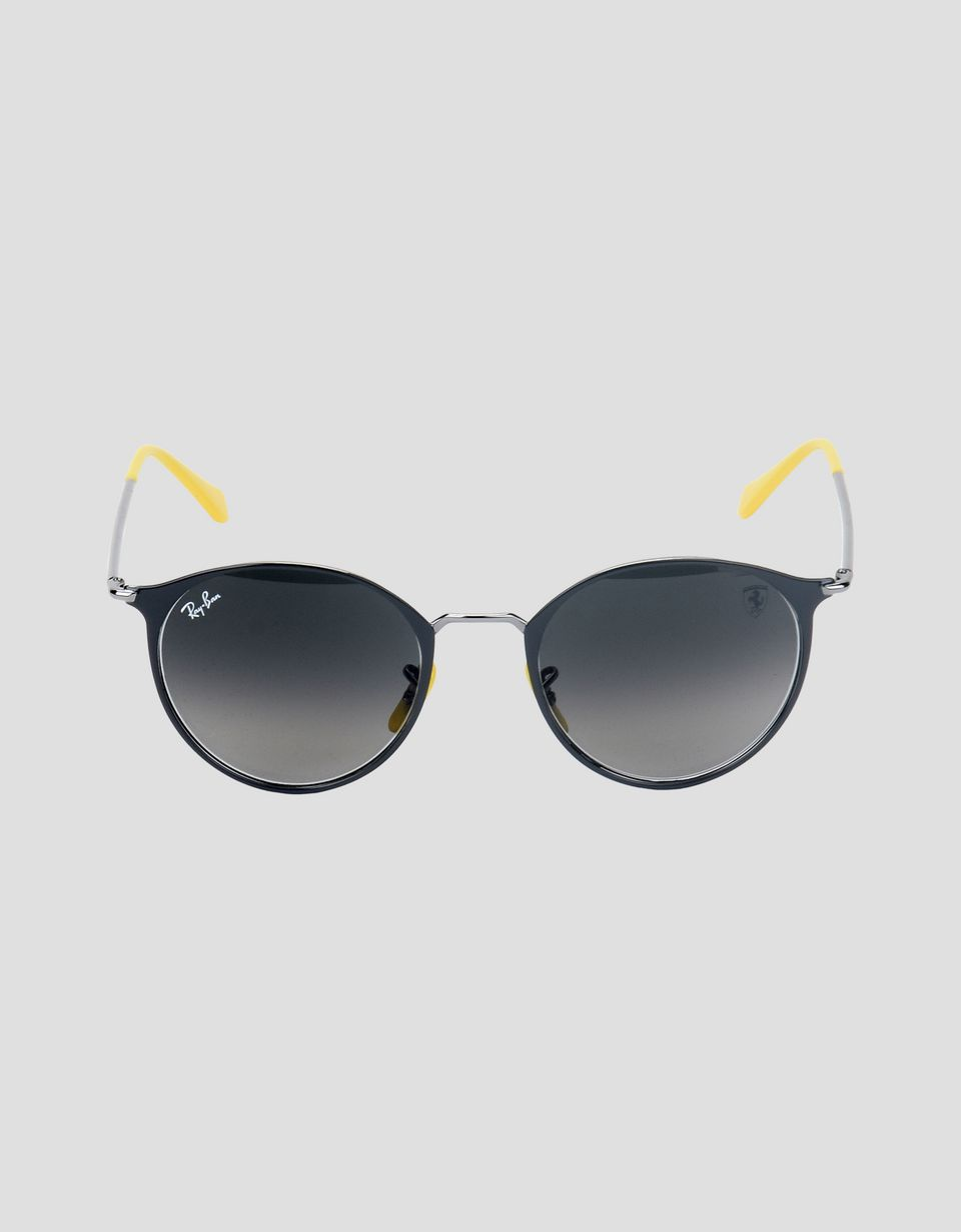 Scuderia Ferrari Online Store - Ray-Ban x Scuderia Ferrari RB3602M gray and gunmetal sunglasses - Sunglasses
