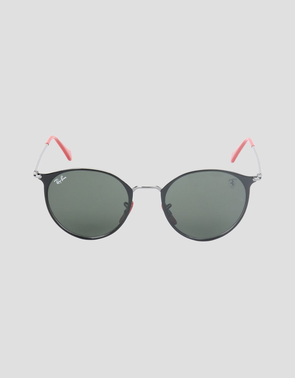 Scuderia Ferrari Online Store - Ray-Ban x Scuderia Ferrari RB3602M black and gunmetal sunglasses - Sunglasses