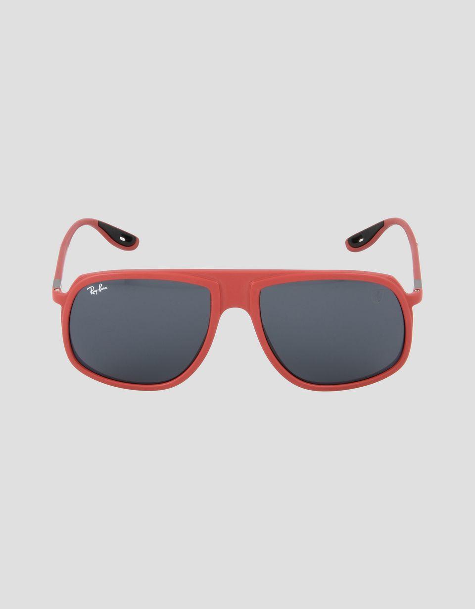 Scuderia Ferrari Online Store - Lunettes de soleil Ray-Ban pour Scuderia Ferrari 0RB4308M couleur rouge - Lunettes de soleil