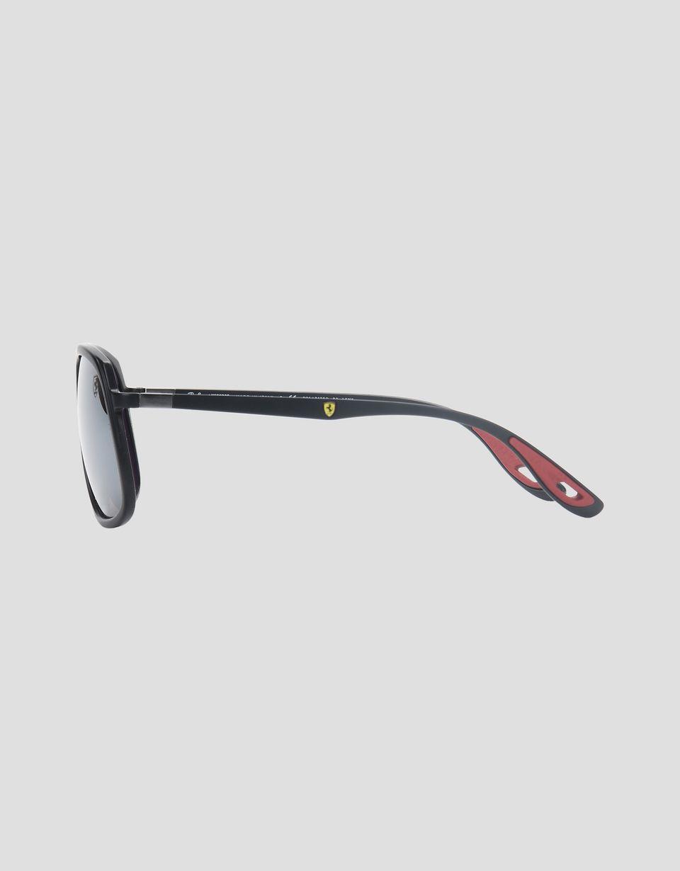 Scuderia Ferrari Online Store - Lunettes de soleil Ray-Ban pour Scuderia Ferrari 0RB4308M couleur noir - Lunettes de soleil
