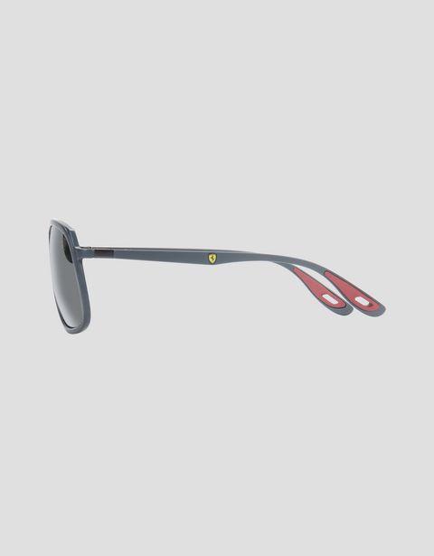 Scuderia Ferrari Online Store - Lunettes de soleil Ray-Ban pour Scuderia Ferrari 0RB4308M couleur gris - Lunettes de soleil