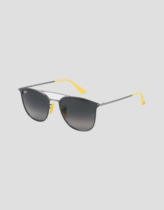 Scuderia Ferrari Online Store - Ray-Ban x Scuderia Ferrari 0RB3601M gray and gunmetal sunglasses - Sunglasses