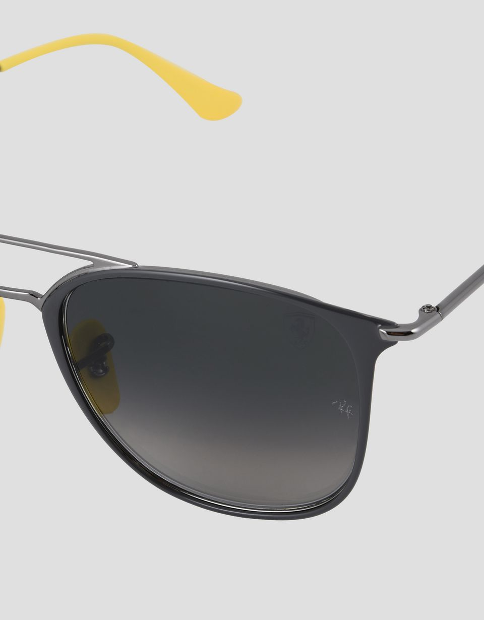 Scuderia Ferrari Online Store - Ray-Ban x Scuderia Ferrari 0RB3601M gray and gunmetal sunglasses - Sunglasses