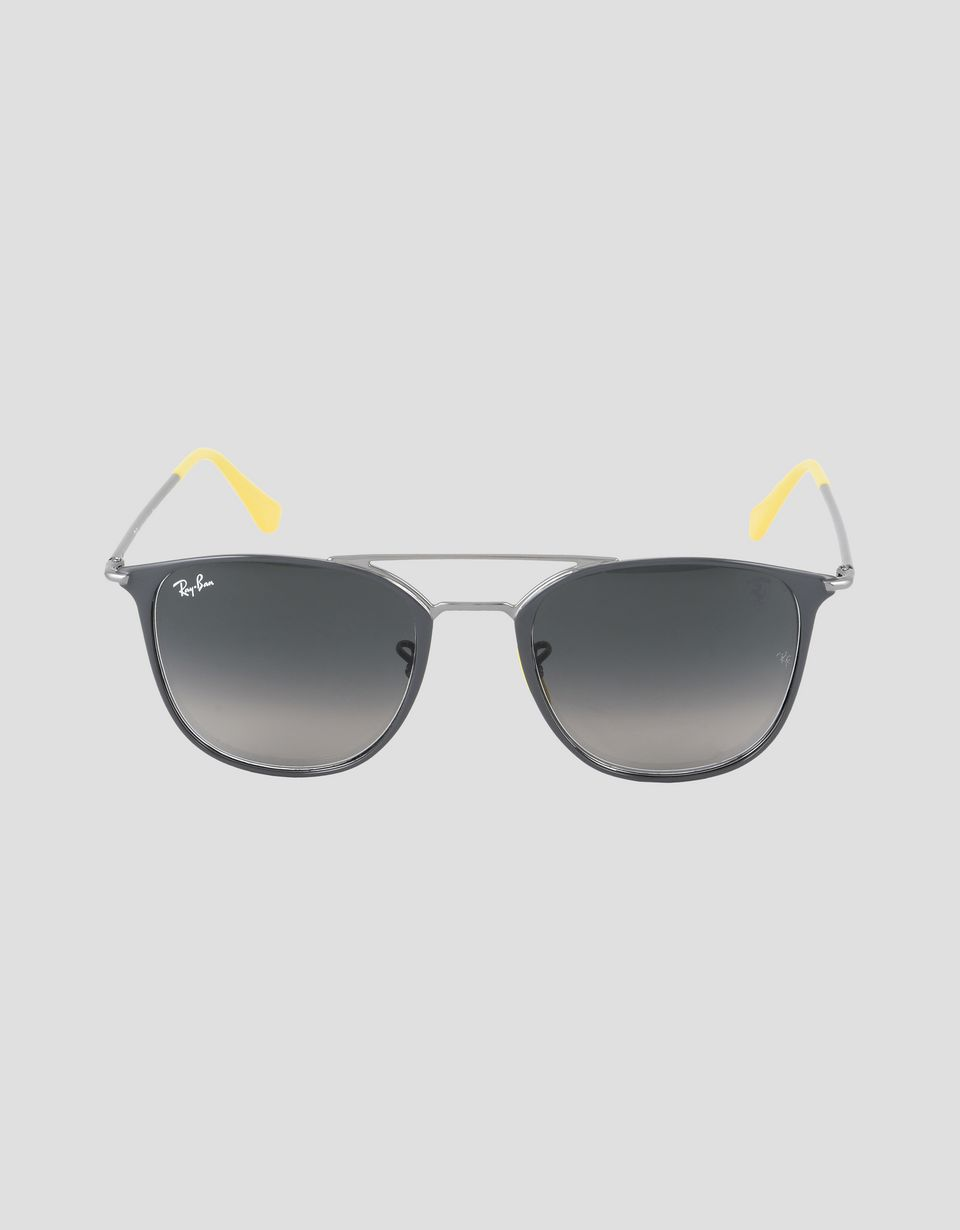 Scuderia Ferrari Online Store - Ray-Ban x Scuderia Ferrari 0RB3601M grey and gunmetal sunglasses - Sunglasses