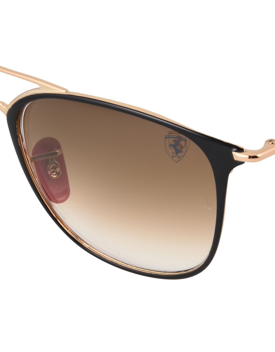 Scuderia Ferrari Online Store - Ray-Ban x Scuderia Ferrari 0RB3601M black and gold sunglasses -