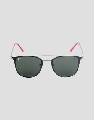 Scuderia Ferrari Online Store - Ray-Ban x Scuderia Ferrari 0RB8351M black and gunmetal sunglasses - Sunglasses