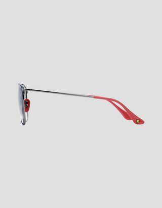 Scuderia Ferrari Online Store - Ray-Ban x Scuderia Ferrari 0RB0RB3601M blue and gunmetal sunglasses - Sunglasses