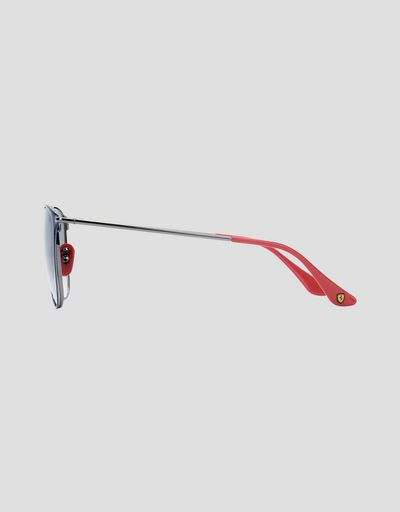 Scuderia Ferrari Online Store - Ray-Ban x Scuderia Ferrari 0RB0RB3601M blue and gunmetal sunglasses -