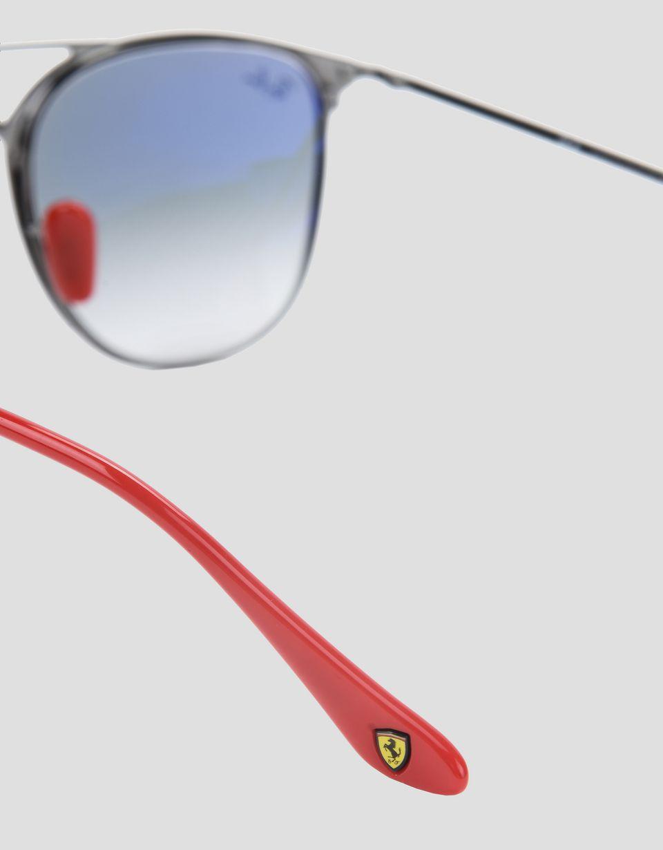 Scuderia Ferrari Online Store - Lunettes de soleil Ray-Ban pour Scuderia Ferrari 0RB3601M couleur bleu et gris canon de fusil - Lunettes de soleil