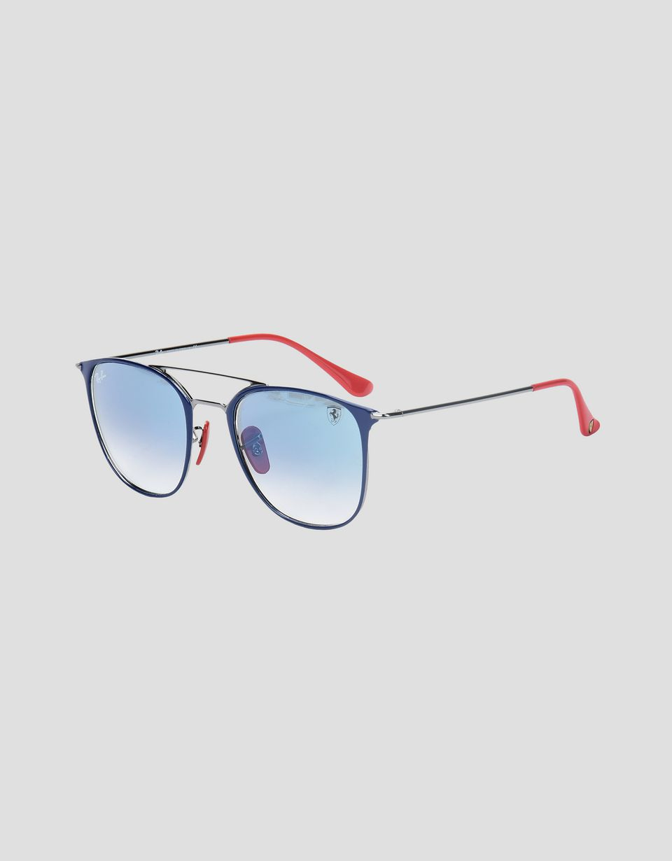 Scuderia Ferrari Online Store - Ray-Ban for Scuderia Ferrari 0RB3601M blu e canna di fucile - Occhiali da Sole