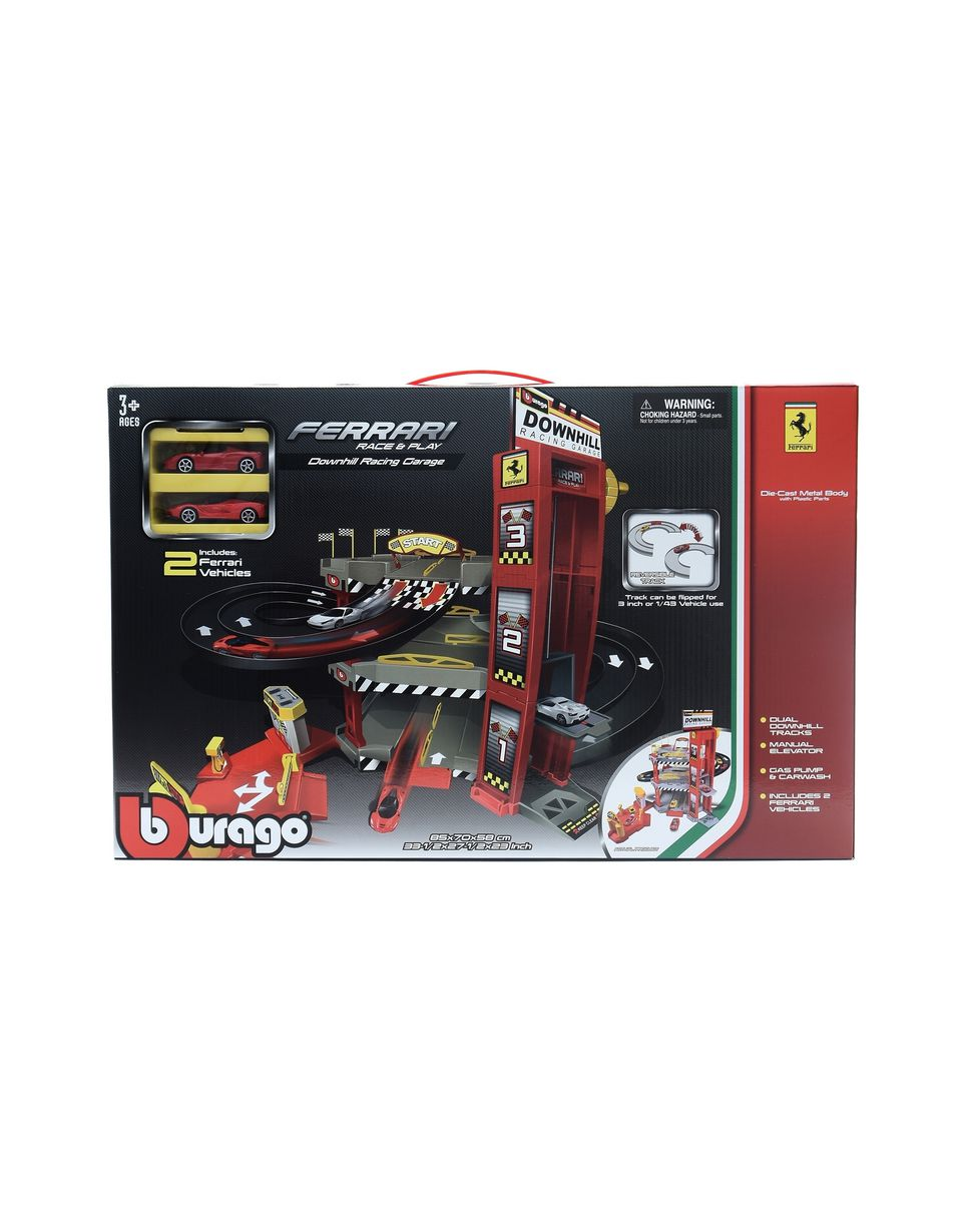 Scuderia Ferrari Online Store - 1:64 scale Ferrari Downhill Racing Garage - Toy Cars