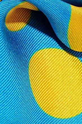 VALENTINO Polka-dot silk-twill scarf