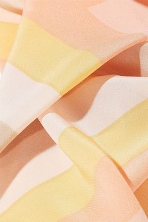 VALENTINO GARAVANI Striped silk scarf