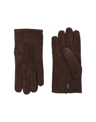 ELEVENTY Herren Handschuhe Dunkelbraun Größe L 100% Schaf