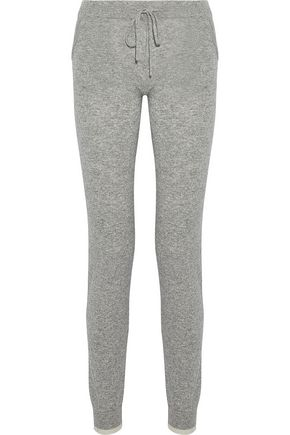 PEPPER & MAYNE Mélange wool and cashmere-blend track pants