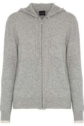 PEPPER & MAYNE Mélange wool and cashmere-blend hooded sweatshirt