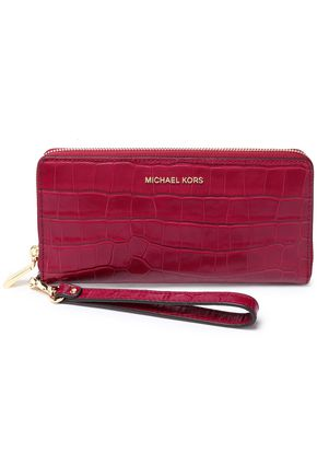MICHAEL MICHAEL KORS Croc-effect leather wallet