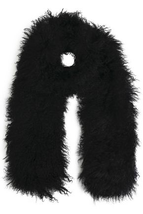 CHARLOTTE SIMONE Shearling scarf