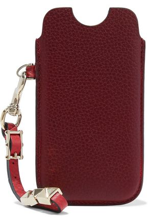 VALENTINO Studded textured-leather iPhone 5 case