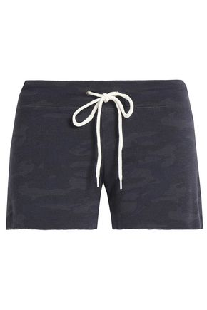 MONROW Printed jersey shorts