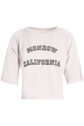 MONROW Printed jersey top