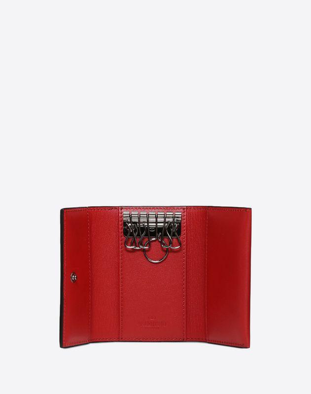 Rockstud Leather Key Case
