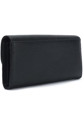 SEE BY CHLOÉ Lizzie pebbled-leather continental wallet