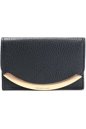 SEE BY CHLOÉ Embellished textured-leather cardholder