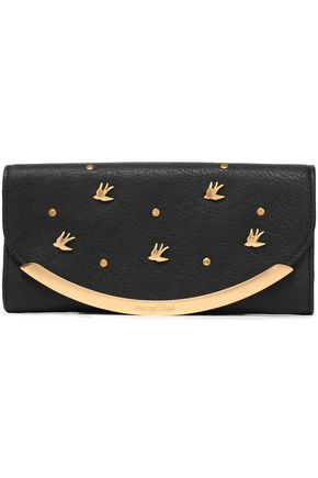 SEE BY CHLOÉ Embellished textured-leather continental wallet