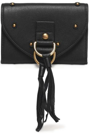 SEE BY CHLOÉ Collins tasseled textured-leather wallet