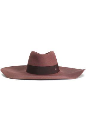 MAISON MICHEL Grosgrain-trimmed felt hat