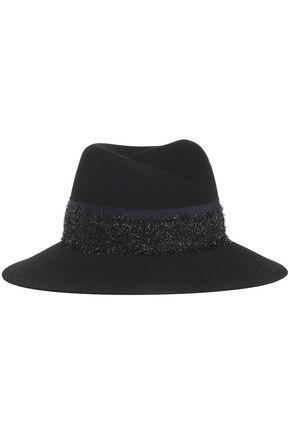 MAISON MICHEL グログラン&ティンセルトリム フェルト ソフト帽