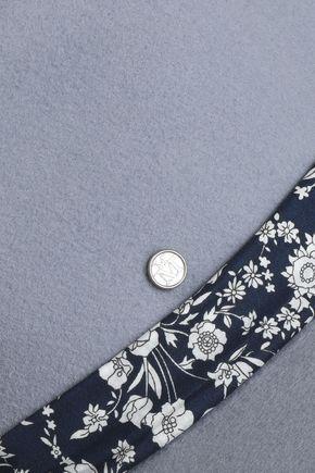 MAISON MICHEL Floral-print canvas-trimmed felt fedora