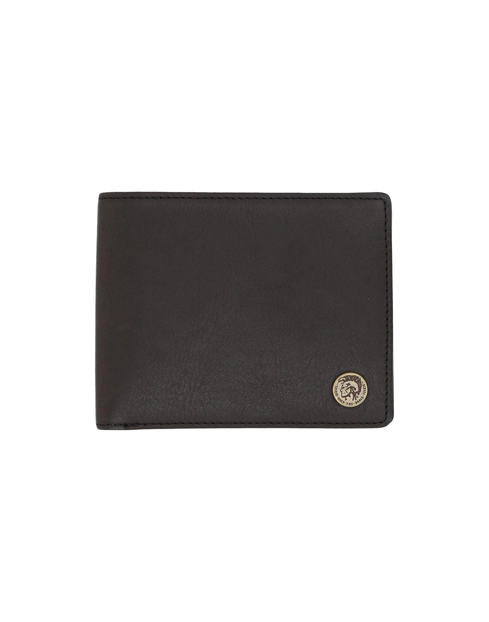 《送料無料》DIESEL メンズ 財布 ブラック 羊類革 100%