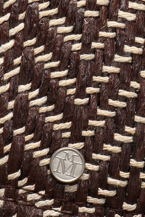 MAISON MICHEL Woven straw fedora