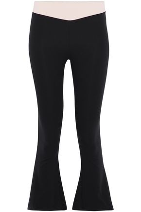 SÀPOPA Stella color-block stretch kick-flare leggings