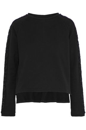 SÀPOPA City embroidered French cotton-terry sweatshirt