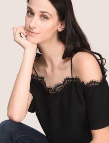 ARMANI EXCHANGE S/L Knit Top Woman a