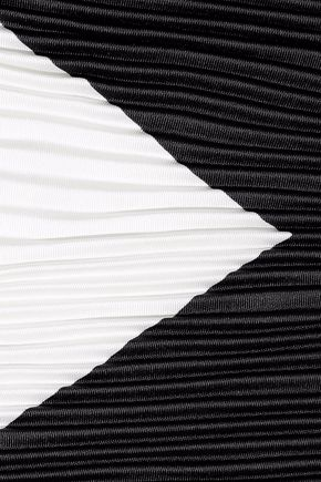 VALENTINO Two-tone plissé silk-faille scarf