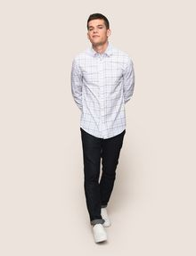 ARMANI EXCHANGE LONG-SLEEVE TARTAN PRINT SHIRT Long sleeve shirt Man d